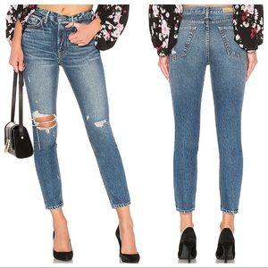 GRLFRND Karolina Distressed High Rise Skinny Jeans